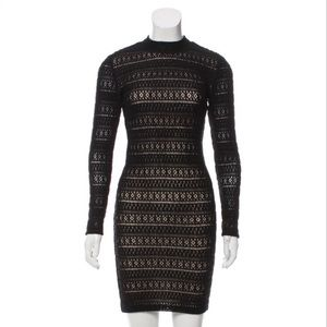 NWOT Alice + Olivia black Crocheted dress
